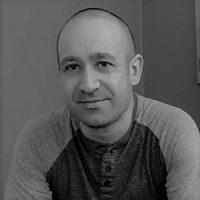 Photo de Yann Rabiniaux en noir et blanc